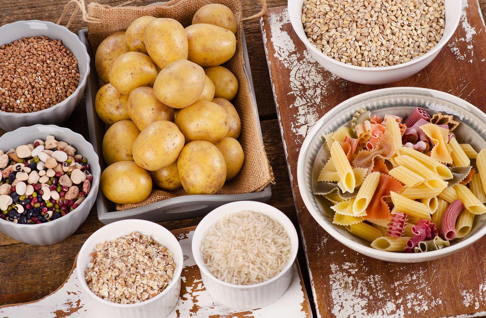 Картофель, перловка, макароны, овсянка, бурый рис, фасоль и гречка
