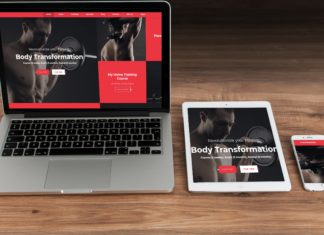 Сайты по бодибилдингу на ноутбуке, планшете и телефоне