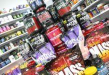 Набор спортивного питания в магазине