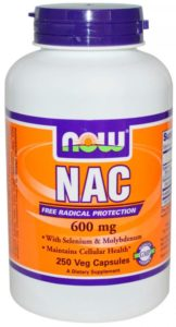 Баночка NAC 600 мг 250 капсул