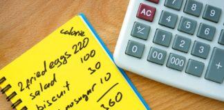 Подсчет калорий на бумаге с калькулятором