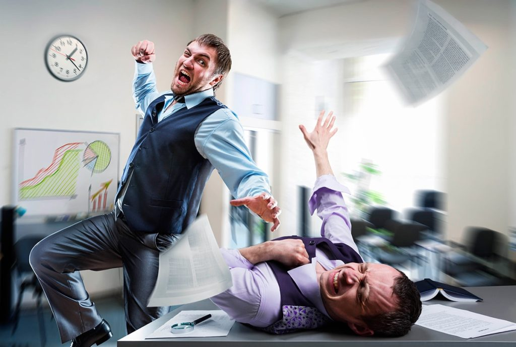 Драка между офисными работниками