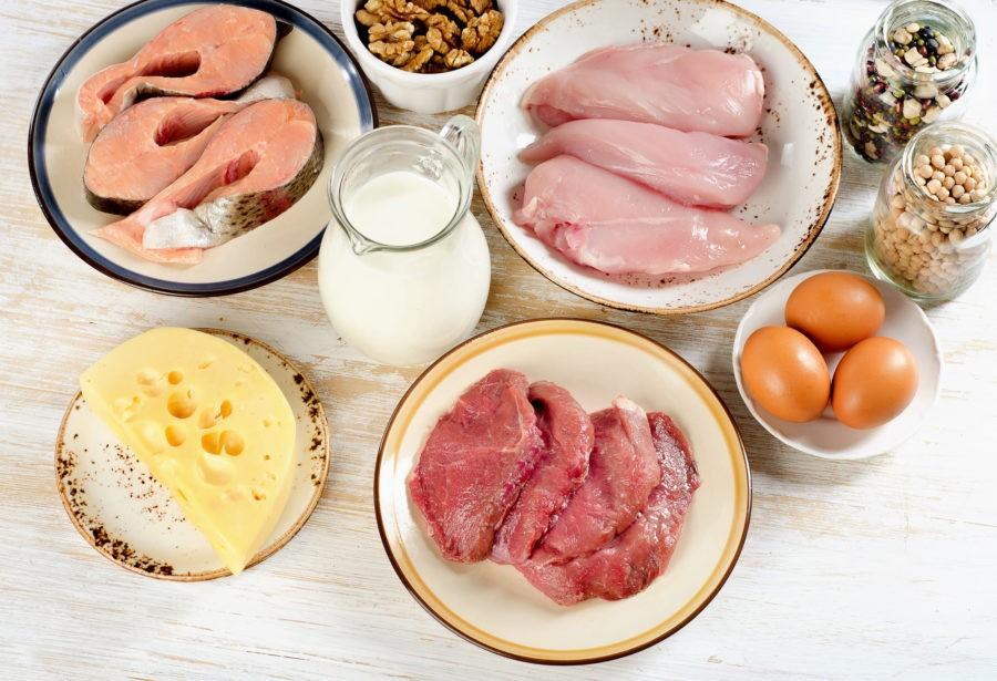 Рыба, сыр, мсо, яйца, орехи