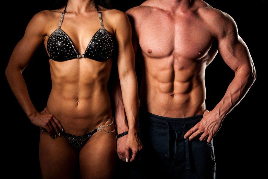 Спортивные фигуры мужчины и женщины