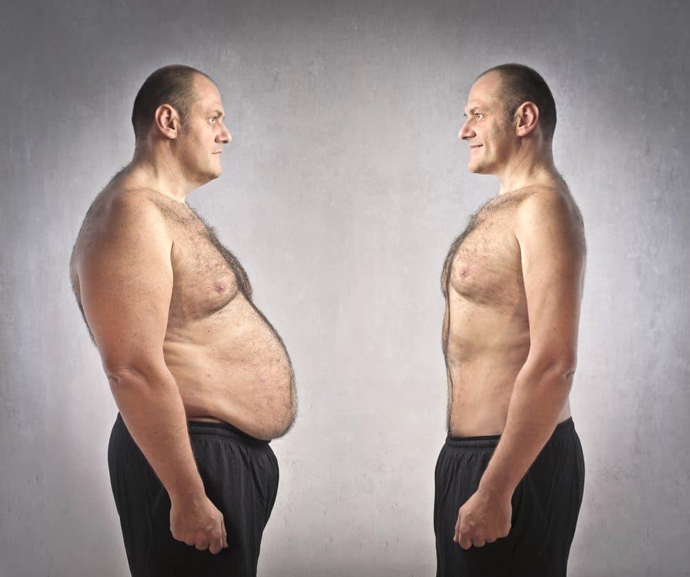 Толстый и худой мужчина