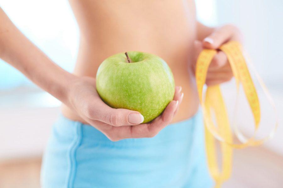 Яблоко способствует похудению