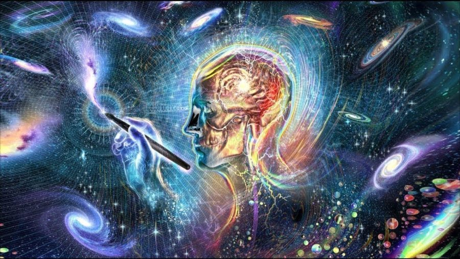 Фантастическая картинка: человек и космос