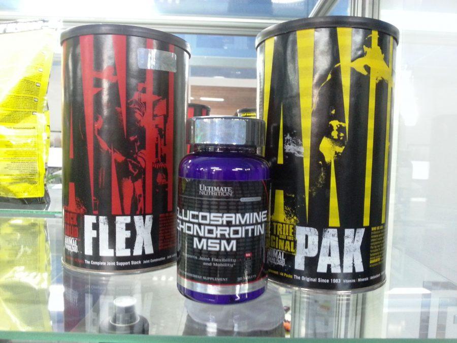 Animal Flex, Animal Pak и Ultimate Nutrition Glucosamine Chondroitin MSM