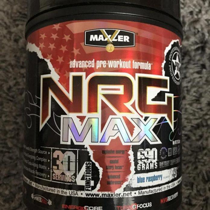 NRG MAX от Maxler баночка предтреника