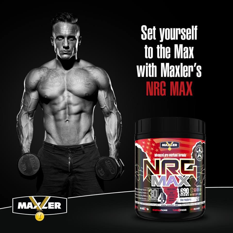 Постер NRG MAX от Maxler
