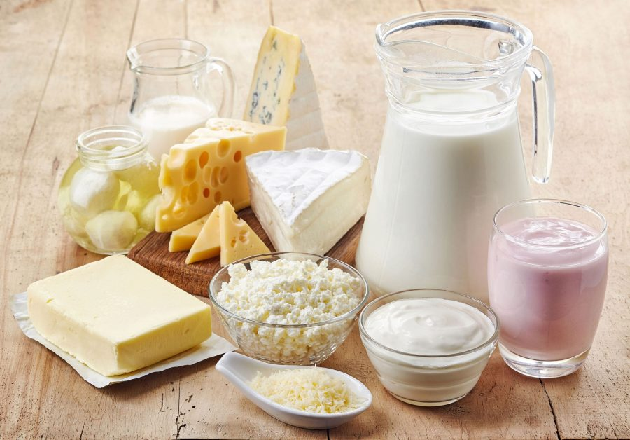 Творог, сметана, молоко, сыр, йогурт