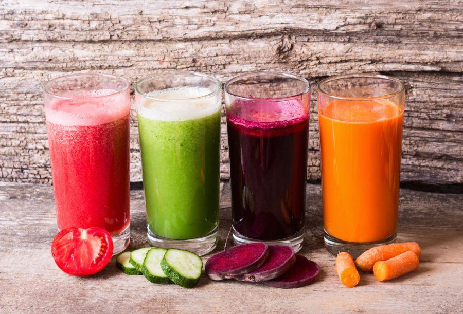 Томатный, огуречный, морковный и свекольный сок