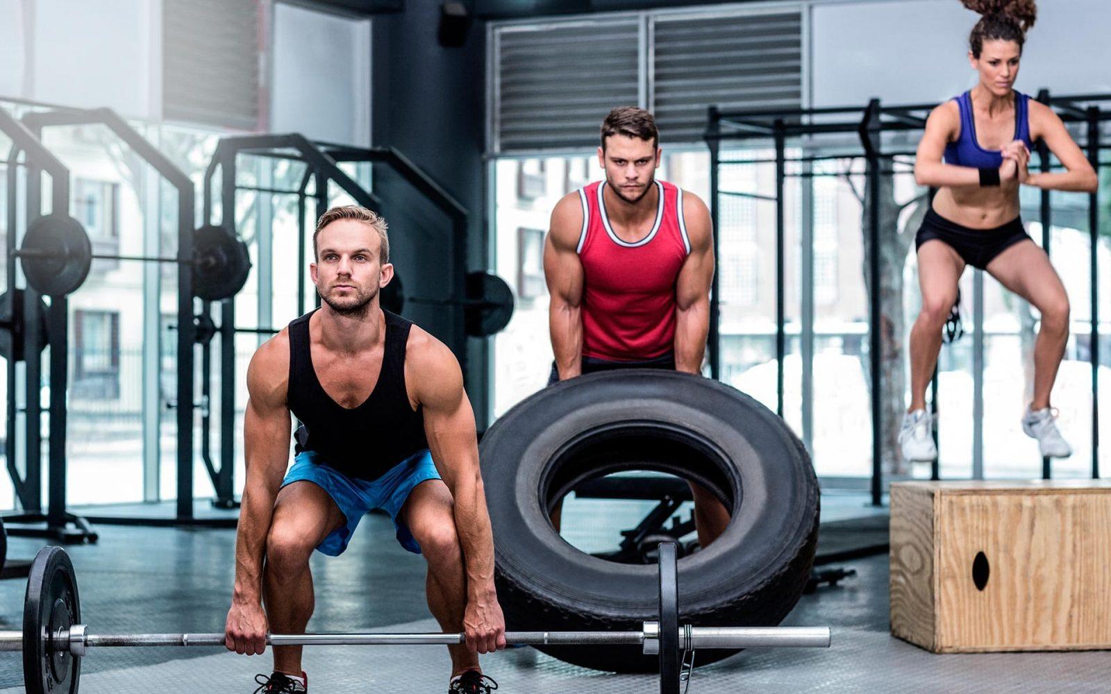 Упражнения силовой выносливости: становая тяга, подъем резинового колеса, прыжки на возвышенность