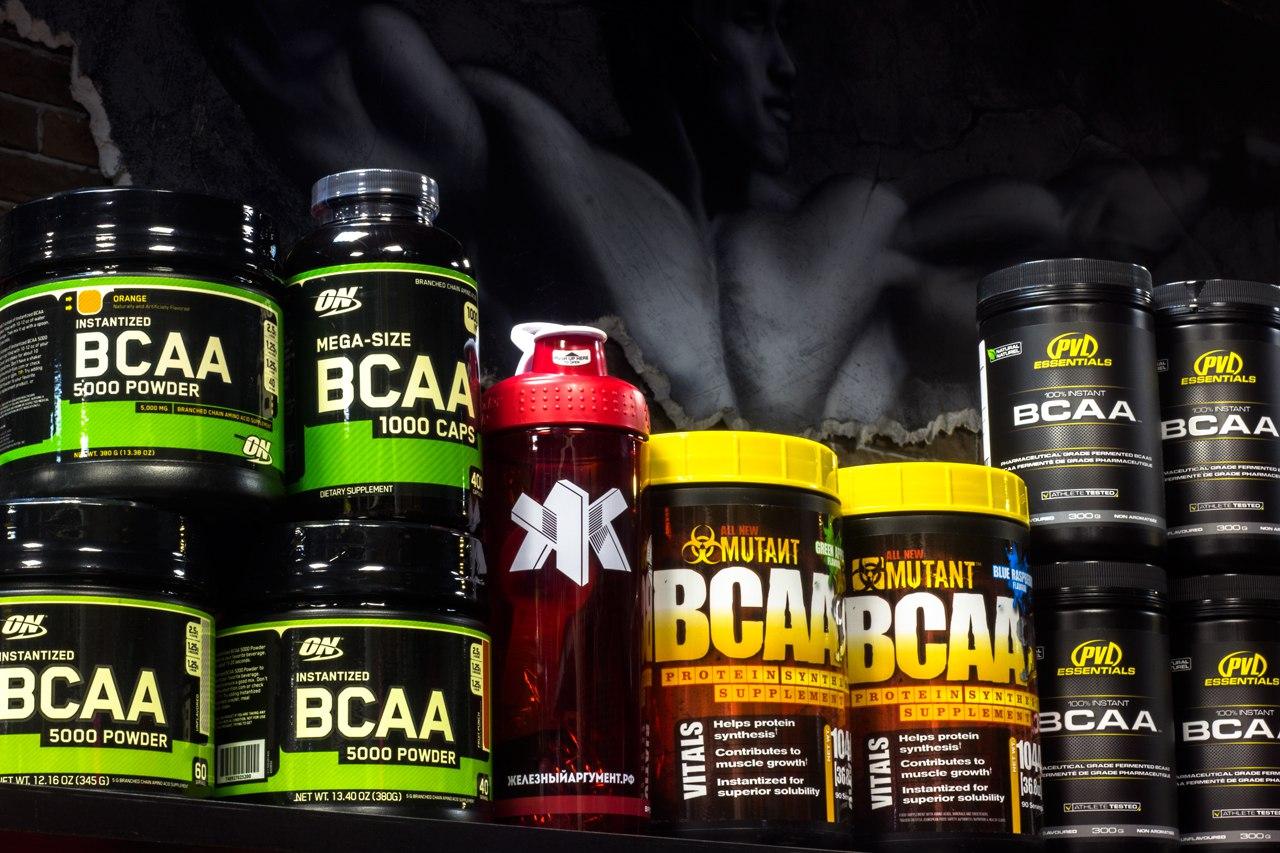 BCAA аминокислоты от различных производителей спортивного питания