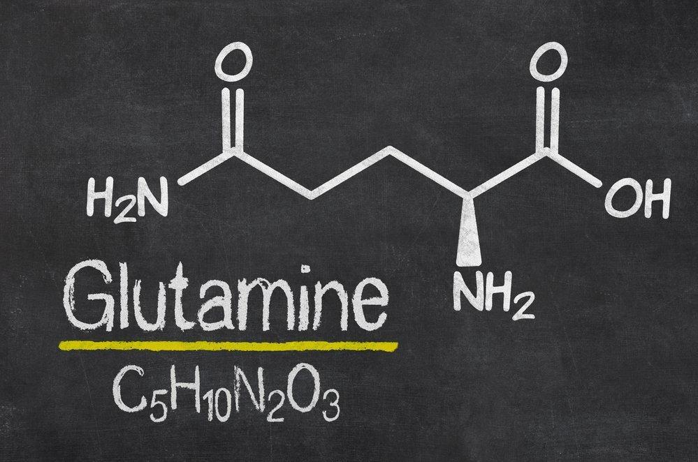Структурная формула глютамина