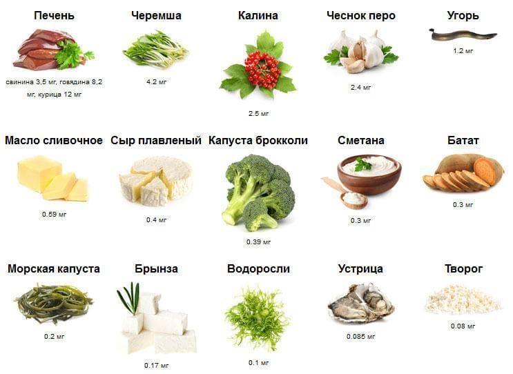 Продукты питания и витамин A
