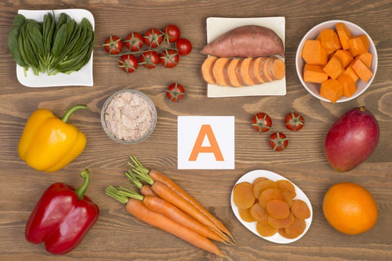 витамин A в пищевых продуктах
