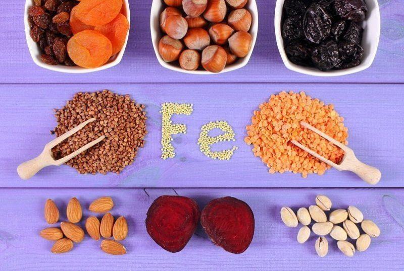 Микроэлемент железо и пищевые продукты