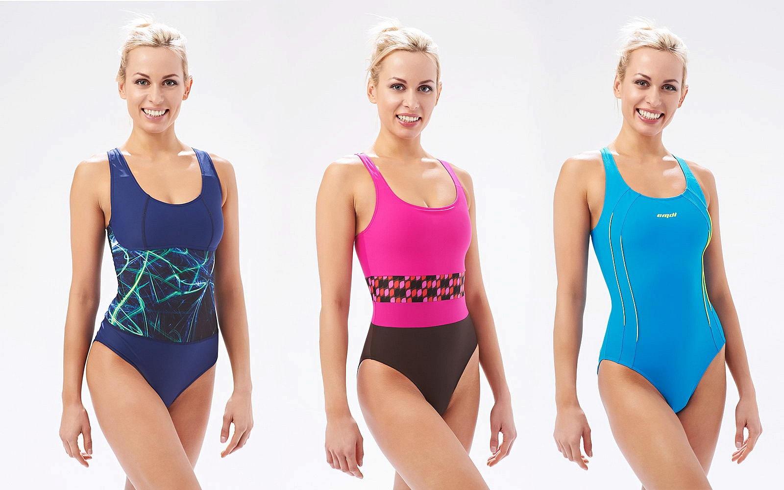 Три сдельных купальника для девушек в бассейн
